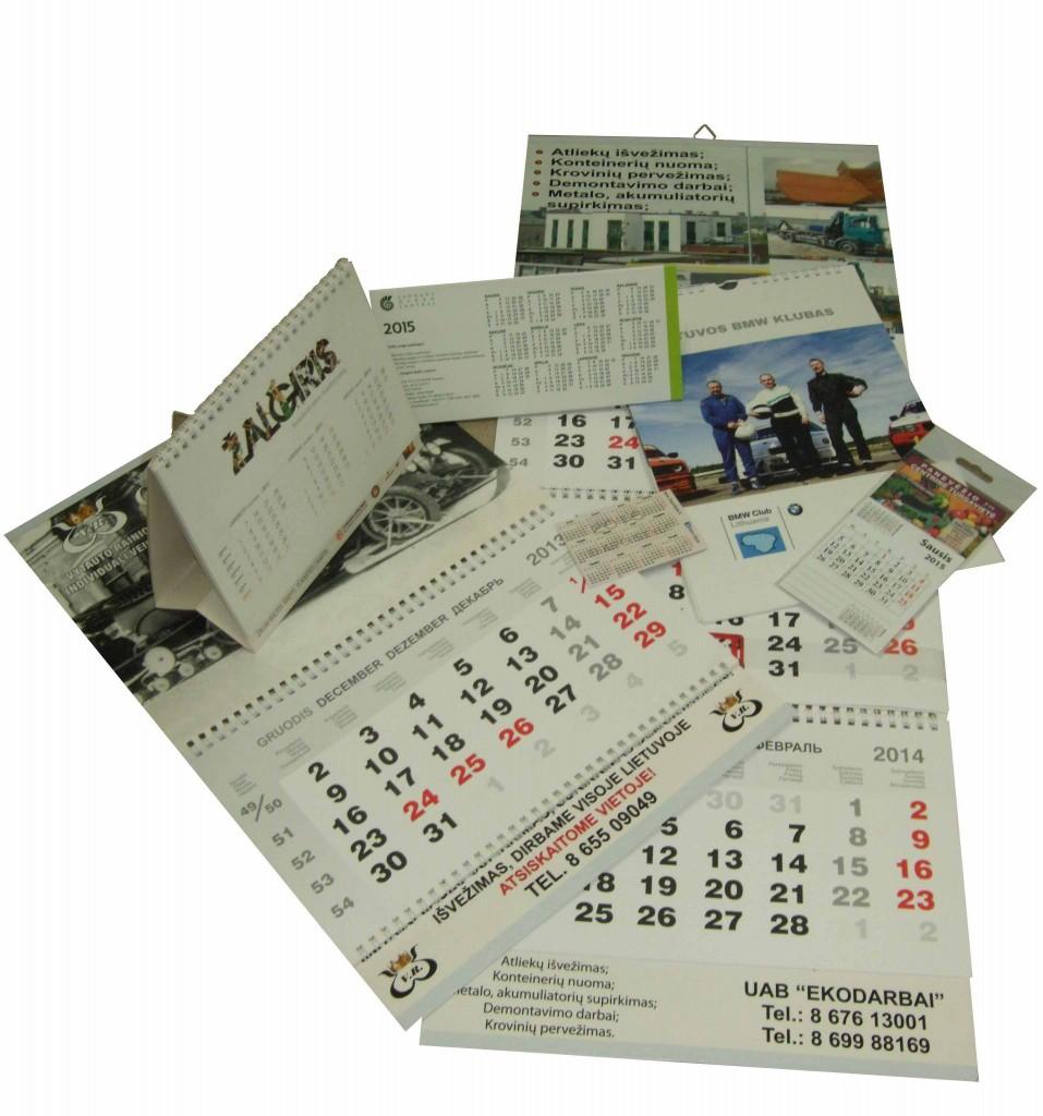 Ivairiu kalendoriu gamyba
